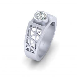 SOLITAIRE MOISSANITE WEDDING RING