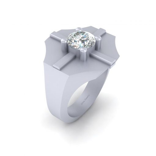 SOLITAIRE MOISSANITE WEDDING BAND