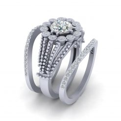 0.80CT MOISSANITE ENGAGEMENT RING SET