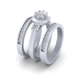 ROUND MOISSANITE RING SET