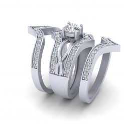0.60CT MOISSANITE WEDDING RING SET