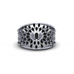 0.80CTTW BLACK DIAMOND WEDDING RING