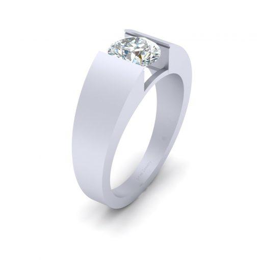 SOLITAIRE DEF WHITE MOISSANITE WEDDING RING