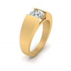 SOLITAIRE MOISSANITE WEDDING RING FOR MEN
