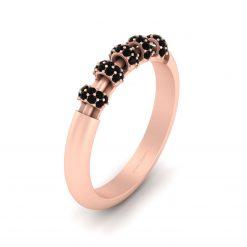 BLACK DIAMOND PROMISE RING FOR WOMEN