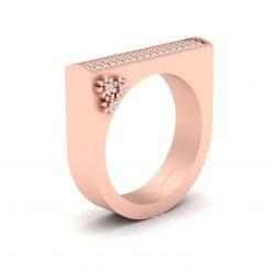 DIAMOND U SHANPED ENGAGEMENT RING