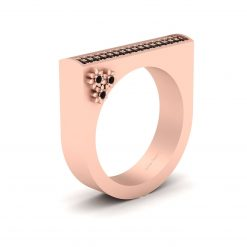 U SHAPED ENGAGEMENT BAND
