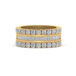 DIAMOND WEDDING BAND IN GOLD