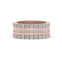 ROSE GOLD ENGAGEMENT BAND FOR HER