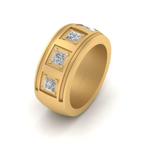 DIAMOND 5 STONE WEDDING RING