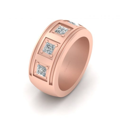 5 STONE ENGAGEMENT BAND FOR MEN