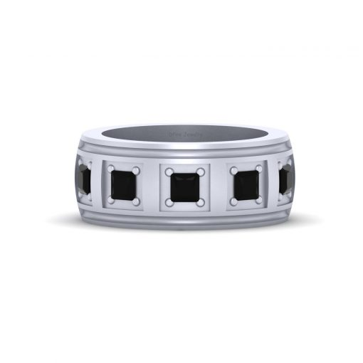 5 STONE WEDDING BAND FOR HIM