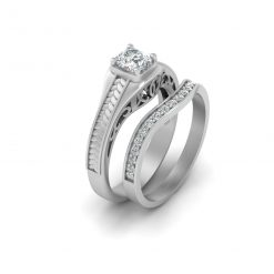 MOISSANITE WEDDING RING SET