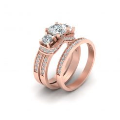 1.05CT MOISSANITE WEDDING RING SET