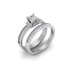 MOISSANITE PROMISE RING SET