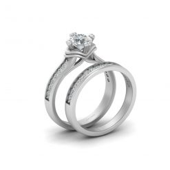 0.75CT MOISSANITE WEDDING RING SET