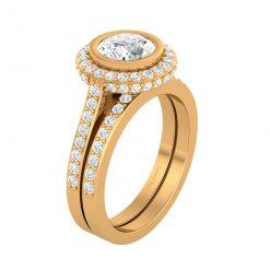1.90CTTW DIAMOND WEDDING RING SET