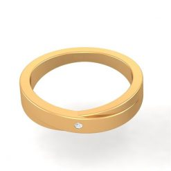GOLD WEDDING BAND FOR WOMENS