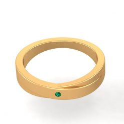 SOLID 14K GOLD WEDDING BAND FOR HER