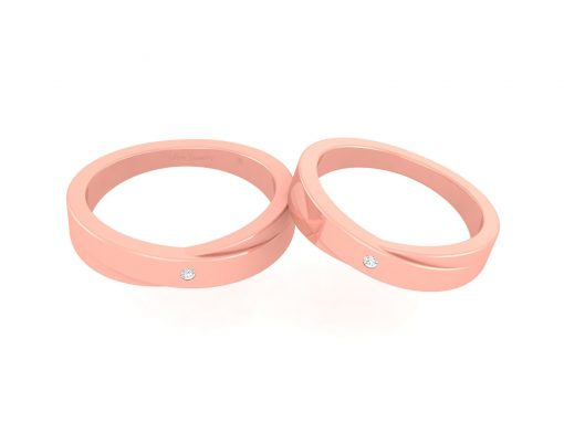 MATCHING ENGAGEMENT BAND SET HIS AND HER