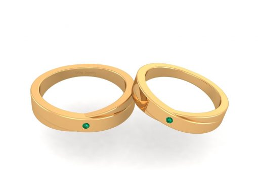 MATCHING ANNIVERSARY BAND SET FOR COUPLE
