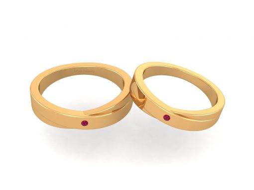 GOLD WEDDING BANDS HIS AND HER
