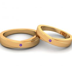 HIS AND HER MATCHING PROMISE BAND SET