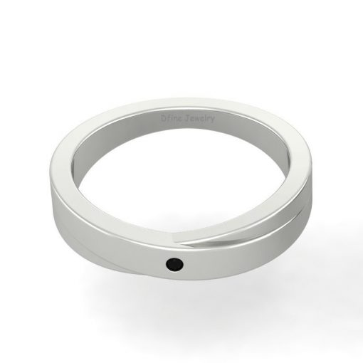 SOLID 14K WHITE GOLD WEDDING BAND