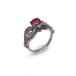 Dark vampire Queen Skull Engagement Ring