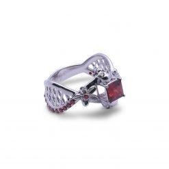 Mesh Skull Engagement Ring