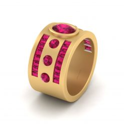 GOLD ENGAGEMENT BAND WOMENS