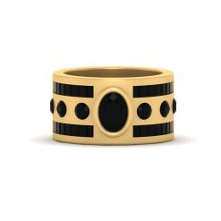ONYX ENGAGEMENT BAND FOR HER