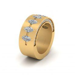 DIAMOND WEDDING BAND GOLD