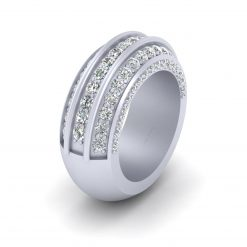 SILVER WEDDING BAND FOR HER
