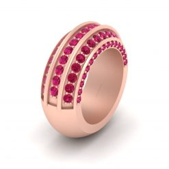 RUBY WEDDING BAND FOR HER