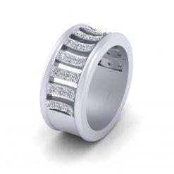 14K GOLD DIAMOND WEDDING BAND