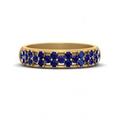 SAPPHIRE WEDDING BAND FOR HER