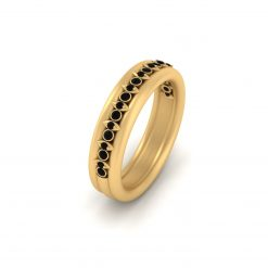 Gold Engagement Band For Her