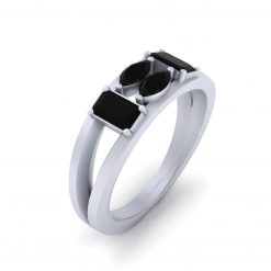 BLACK DIAMOND PROMISE RING FOR HER
