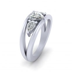 Heart Shape Diamond Promise Ring