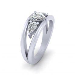 Heart Shape Diamond Promise Ring