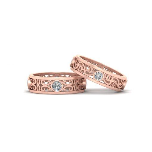 LESSBIAN COUPLE RINGS ROSE GOLD