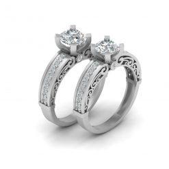 LESBIAN WEDDING RING SET