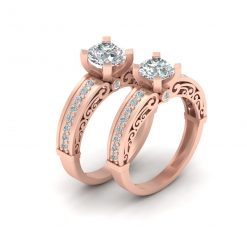 FILIGREE ENGAGEMENT RING SET