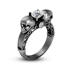FILIGREE SKULL WEDDING RING