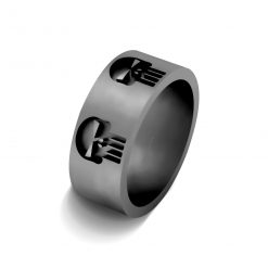 PUNISHER SKULL RING SILVER