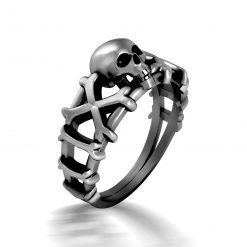 PIRATES SKULL WEDDING RING