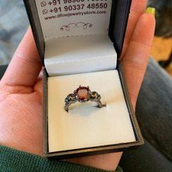 RED DIAMOND SKULL WEDDING RING