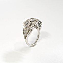 HALO DIAMOND SKULL ENGAGEMENT RING