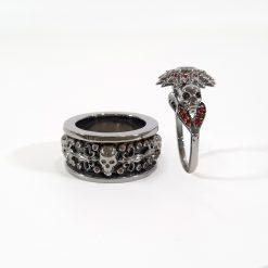 SILVER GOTHIC WEDDING RINGS